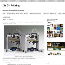 DIY 3D Printing: Felix 3d printer