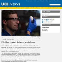 UCI, fellow chemists find a way to unboil eggs
