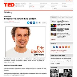 Fellows Friday with Eric Berlow