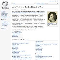 List of FRSA