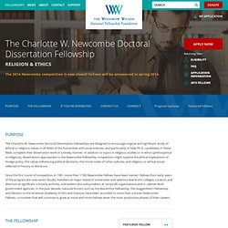 The Charlotte W. Newcombe Doctoral Dissertation Fellowship