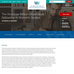 The Woodrow Wilson Dissertation Fellowship in Women's Studies