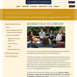 Wexner Field Fellowship - Wexner Graduate Fellowship - Programs