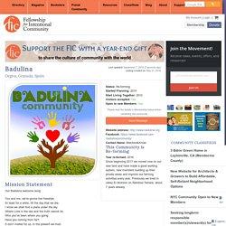 Badulina - Fellowship for Intentional Community