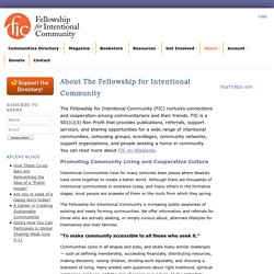 The Fellowship for Intentional Community - About FIC