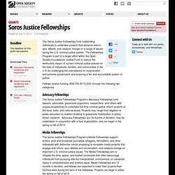 Soros Justice Fellowships