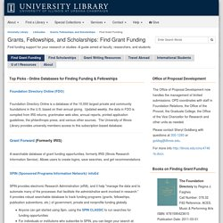 Find Grant Funding - Grants, Fellowships, and Scholarships - LibGuides at University of Illinois at Urbana-Champaign