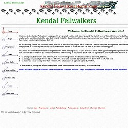 Kendal Fellwalkers - Cumbrian walking club