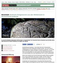 Erstmals Felsgravuren aus Altsteinzeit in Deutschland entdeckt