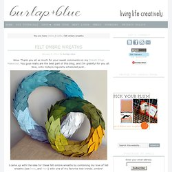 ombre wreaths