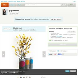 In stock Ready to ship Dot Vase Felted Wool by papaververt