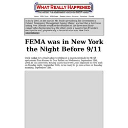 FEMA was in New York the Night Before 9/11