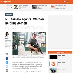 NBI female agents: Women helping women