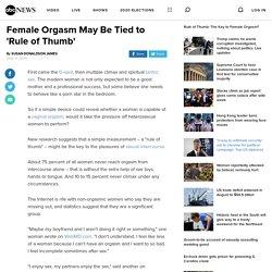 Sex Study Says Female Orgasm Eludes Majority of Women