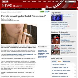 Female smoking death risk 'has soared'