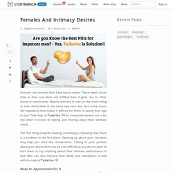 Females And Intimacy Desires