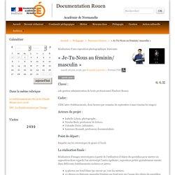 « Je-Tu-Nous au féminin/ masculin » - Documentation Rouen