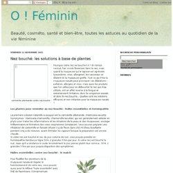 Nez bouché: les solutions à base de plantes