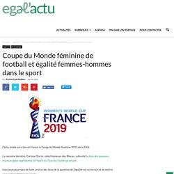Coupe du Monde féminine de football et égalité femmes-hommes dans le sport