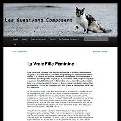 [French] La Vraie Fille Féminine
