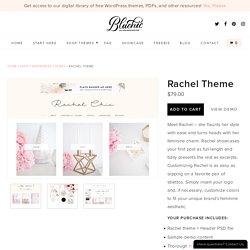 Meet Rachel - feminine responsive WordPress theme