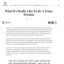 Feminine Beauty Passing Transwoman Experience