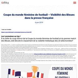 Coupe du monde féminine de football - Visibilité des Bleues dans la presse française - Aday