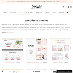 Feminine WordPress Themes - BluChic