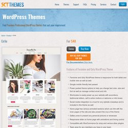 Girlie - Feminine and Girly WordPress Theme for Girly Feminine Business