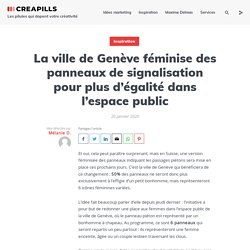 La ville de Genève féminise des panneaux de signalisation pour plus d'égalité dans l'espace public