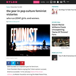 How Feminism Took Over Pop Culture in 2014