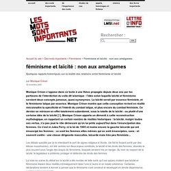 Féminisme et laïcité : non aux amalgames