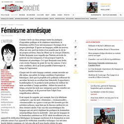 Féminisme amnésique