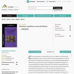 Féminisme, capitalisme et ruses de l'histoire