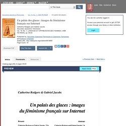 Un palais des glaces : images du féminisme français sur Internet on JSTOR