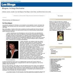 Féminisme et littérature I : Blogres, le blog d'écrivains
