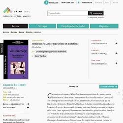 Féminisme(s). Recompositions et mutations