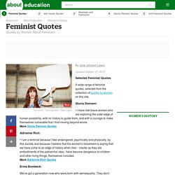 Feminist Quotes: What Women Have Said About Feminism