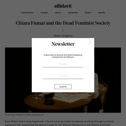 Chiara Fumai and the Dead Feminist Society