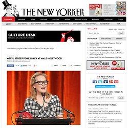 Meryl Streep's Feminist Tribute to Emma Thompson