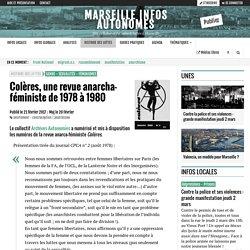 Colères, une revue anarcha-féministe de 1978 à 1980 - Marseille Infos Autonomes