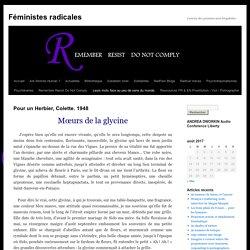 Pour un Herbier, Colette. 1948 - Féministes radicalesFéministes radicales