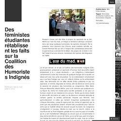 Des féministes étudiantes rétablissent les faits sur la Coalition des Humoristes Indignés