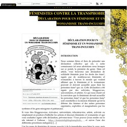 Féministes contre la transphobie