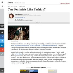 Can Feminists Like Fashion? - Forbes