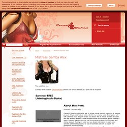welcome to the one step shopping mall for erotic hypnosis, feminization, sissification and tease and denial