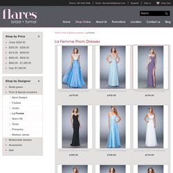 La Femme Prom Dresses at Flares Bridal