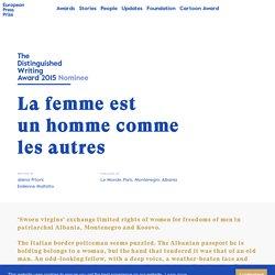 La femme est un homme comme les autres - European Press Prize