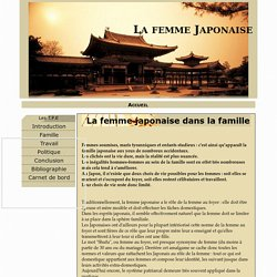 La femme japonaise dans la famille - La femme Japonaise