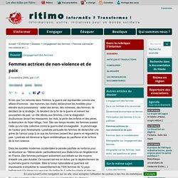 Femmes actrices de non-violence et de paix - Ritimo